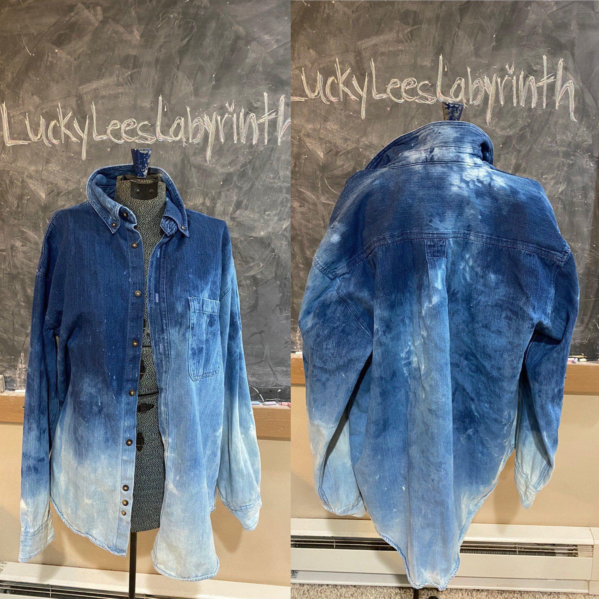 Faded Jean Shirt Unisex Distressed Jean Jacket Mens Blue Etsy Blue Denim Shirt Distressed Jean Jacket Mens Jean Shirts [ 2048 x 2048 Pixel ]