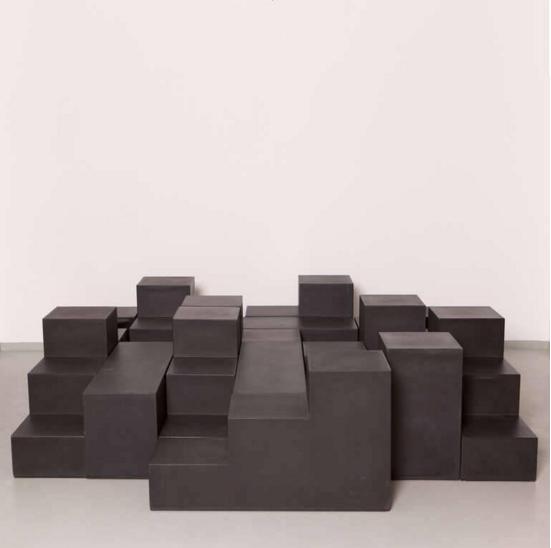 Mario Bellini; Duraplum Plastic and Foam 'Gli Scacchi' Modular Seating for C&B/B&B Italia, 1960s.