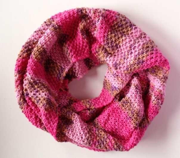 Loop (Snood, Schal) aus Lana Grossa Elastico Print, Baumwollmischung ...