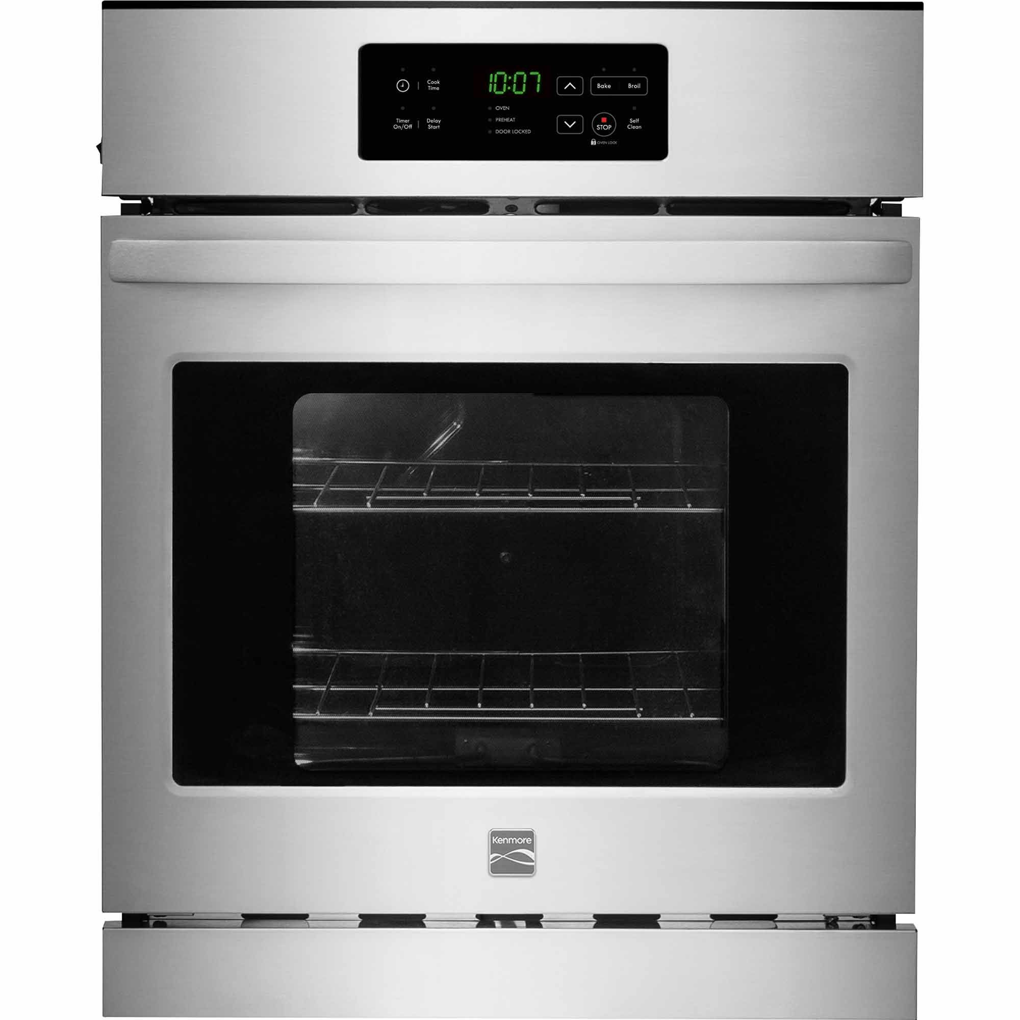 Kenmore 40283 24 Electric Wall Oven W Self Clean Stainless