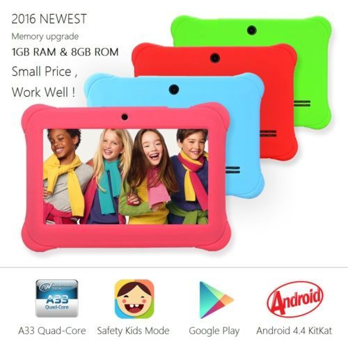 7-Kids-Tablet-1GB-RAM-8GB-Storage-Android-4-4-Kitkat-QuadCore-WIFI-2016-NEWEST