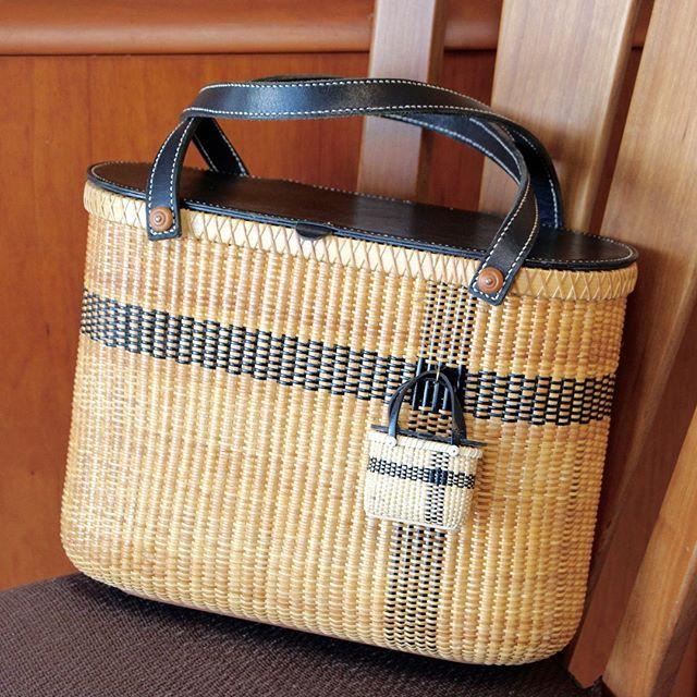 #nantucketbasket #tote #bag with #miniature basket #ナンタケットバスケット #ミニチュア #バック