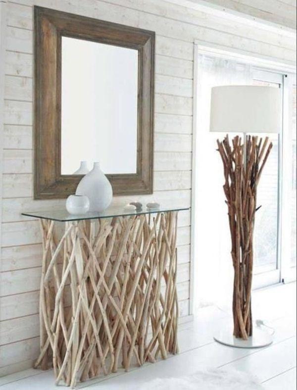Tisch selber bauen design  treibholz tisch wohnzimmertisch selber bauen flur … | Pinteres…