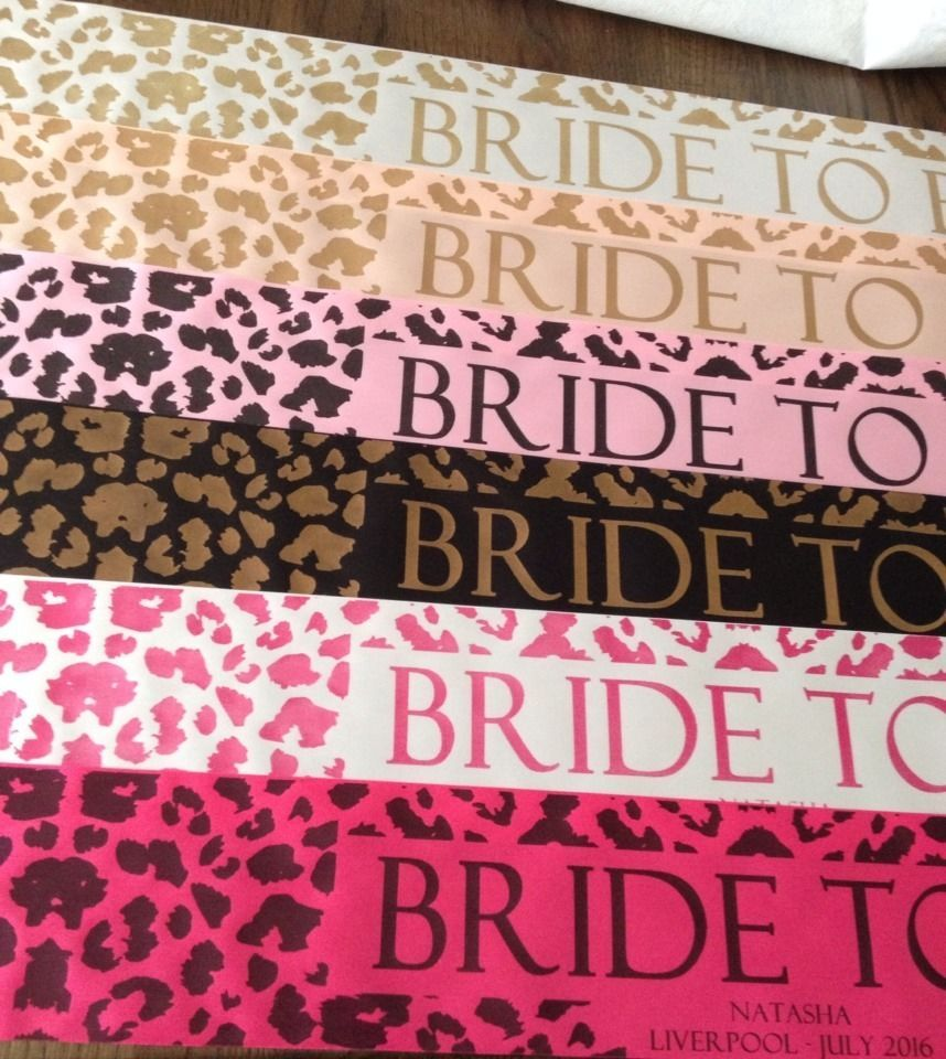 06e8f704ae Details about ROSE GOLD NEW Leopard Print Bride To Be Hen Party ...