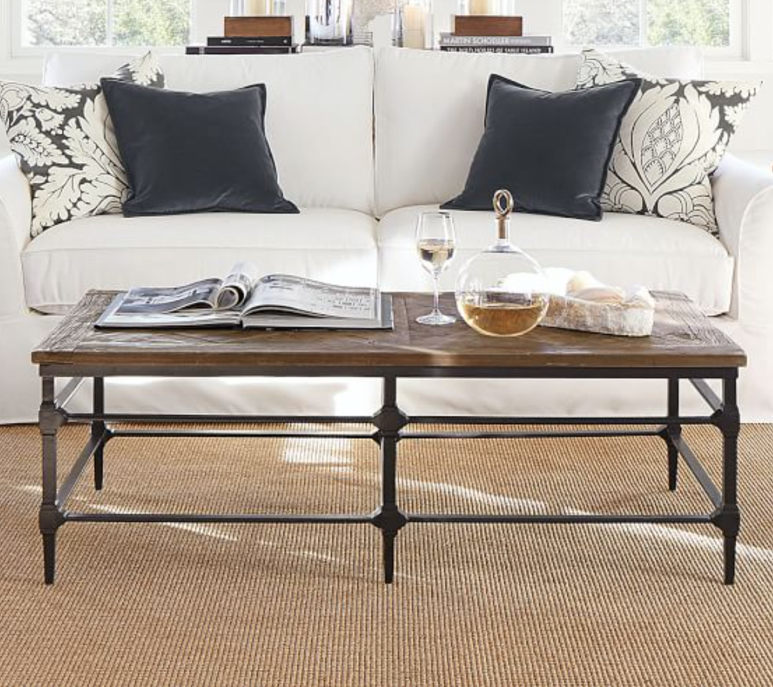 Pottery Barn Parquet Coffee Table Reclaimed Wood Coffee