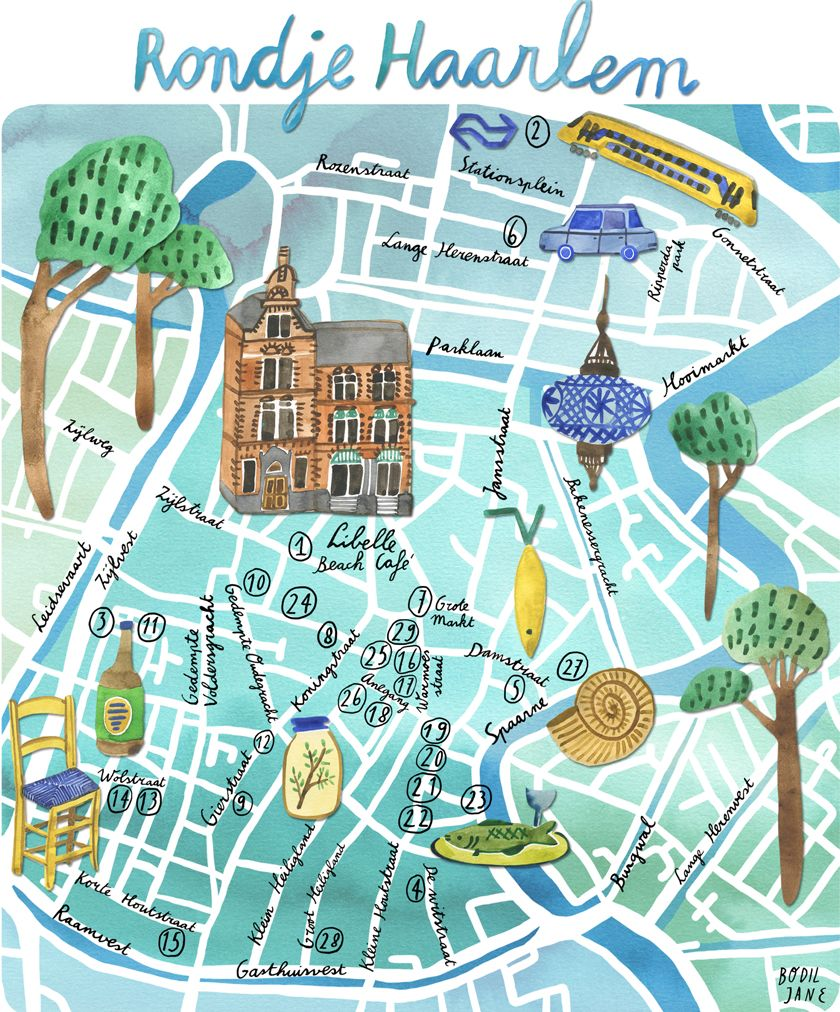 haarlem plattegrond poster Google Search For the Home