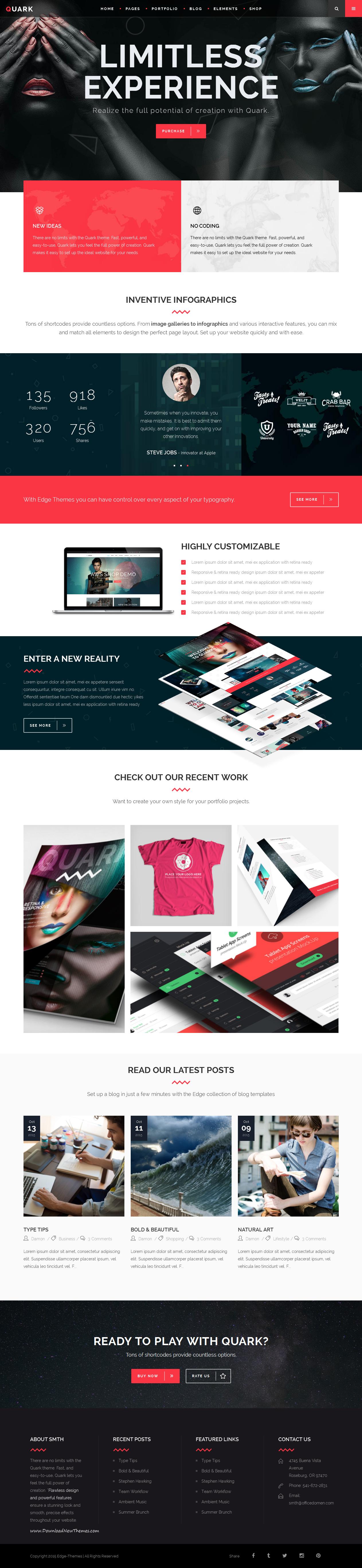 A modern WordPress Theme for Digital Art #Studio #Website.