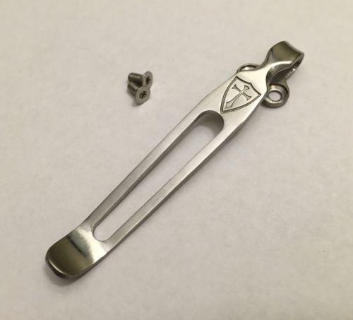 Custom Titanium Clip Compatible To Spyderco Paramilitary 2 Delica 4 Endura 4
