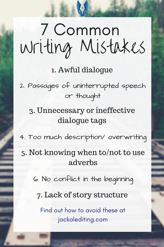 7 Common Fiction Writing Mistakes (and How to Avoid Them)