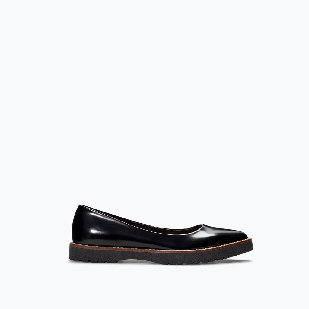 Image 1 of TRACK SOLE BALLET FLAT from Zara