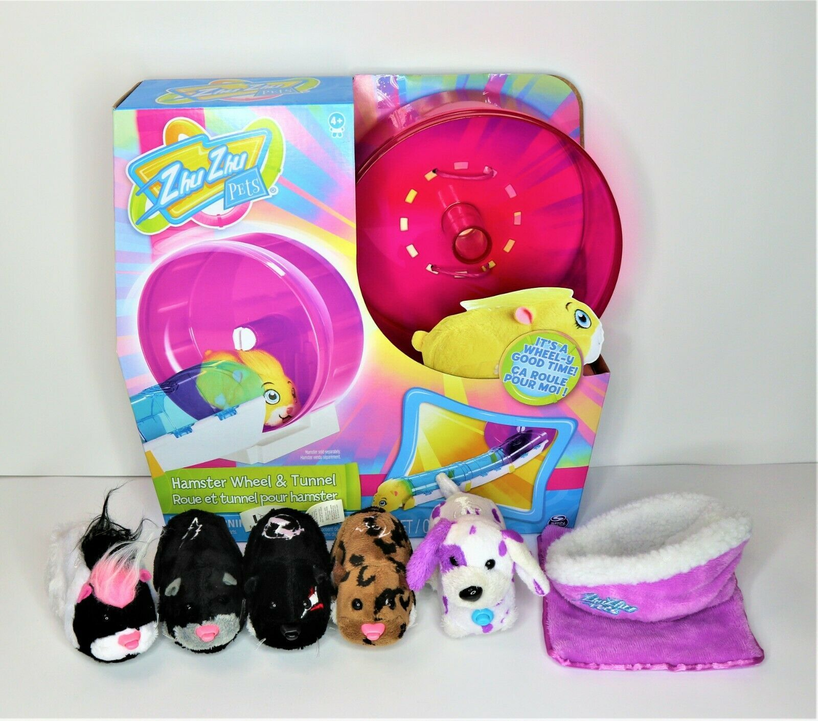Details About Zhu Zhu Pets New Tunnel And Wheel And Lot Of 4 Hamsters And 1 Dog W Accessories In 2020 Pet News Hamster Pets