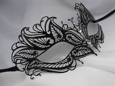 Venetian Style Laser Cut Metal Filigree Masquerade Party Mask Diamante F3 | eBay