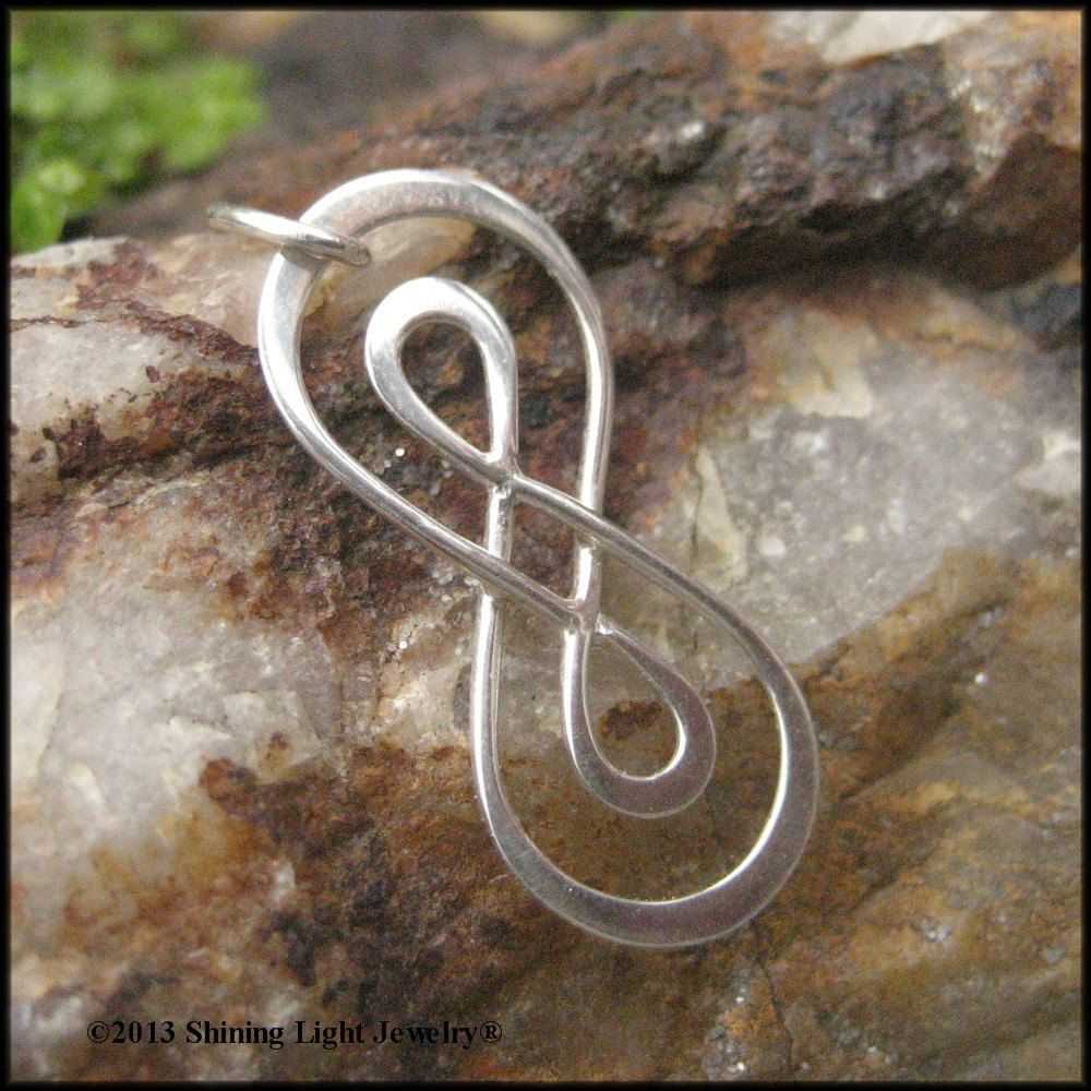 Double infinity symbol charm sterling silver infinity necklace doubleinfinitysymbolcharmsterlingbyshininglightjewelry biocorpaavc Choice Image