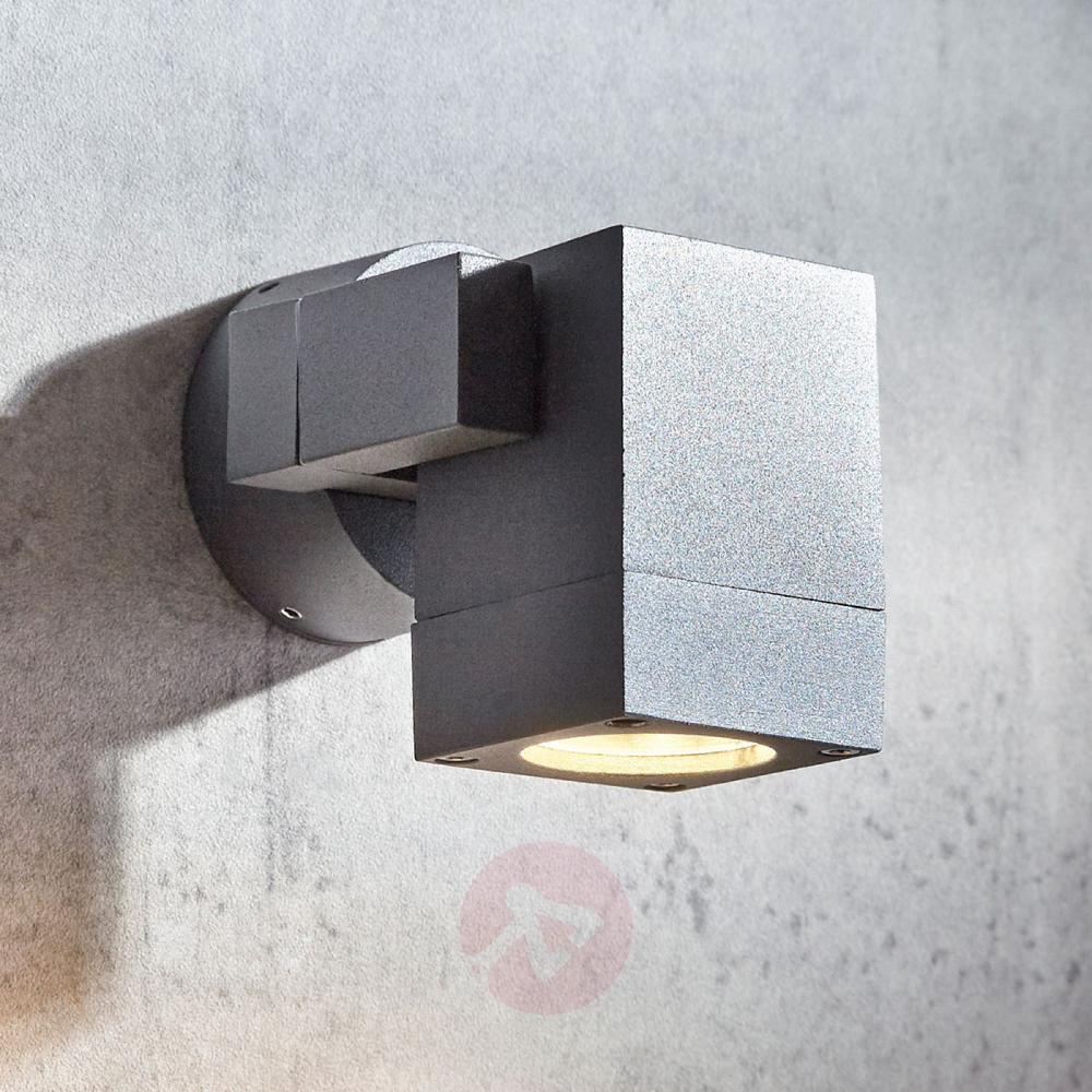 Compra Foco De Pared Exterior Kavuna Gris Ip65 Angular Lampara Es Focos Pared Exterior Lampara De Exterior