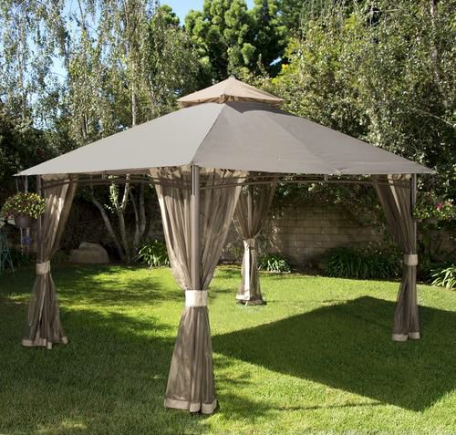 Backyard Creations 13 X 10 Roof Style Gazebo At Menards Gazebo Backyard Creations Roof Styles