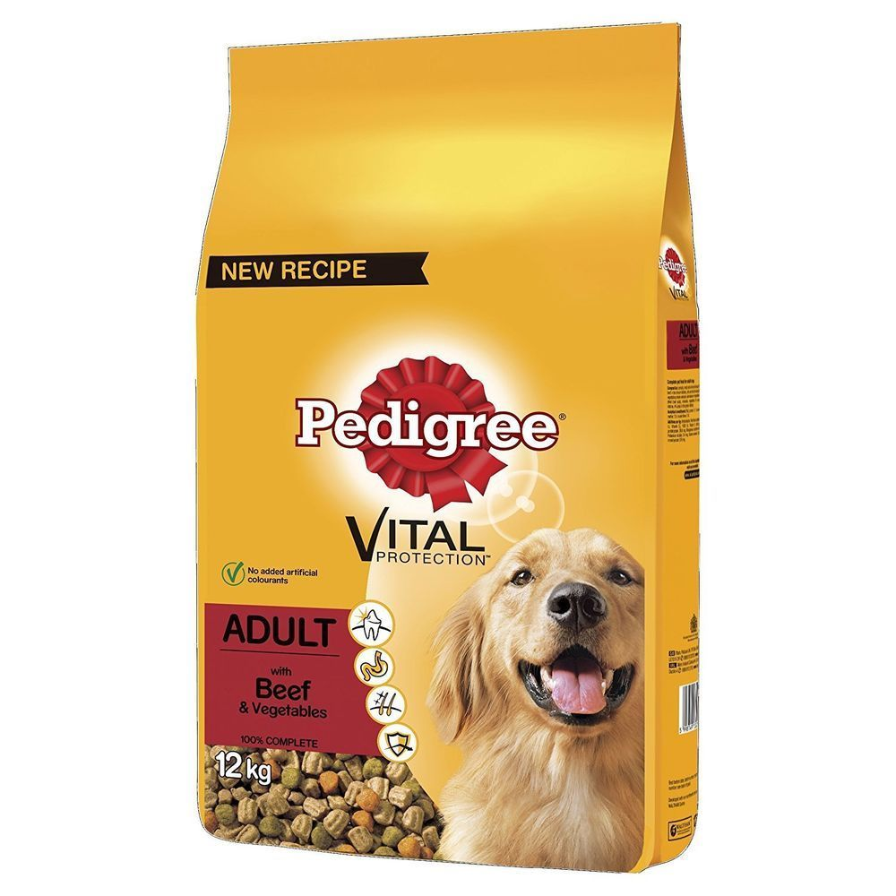 Pedigree Dog Complete Dry With Beef And Vegetables 12kg Pedigree