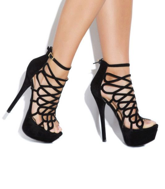 shoes-black high heels-summer heels-spring heels-high heel sandals ...