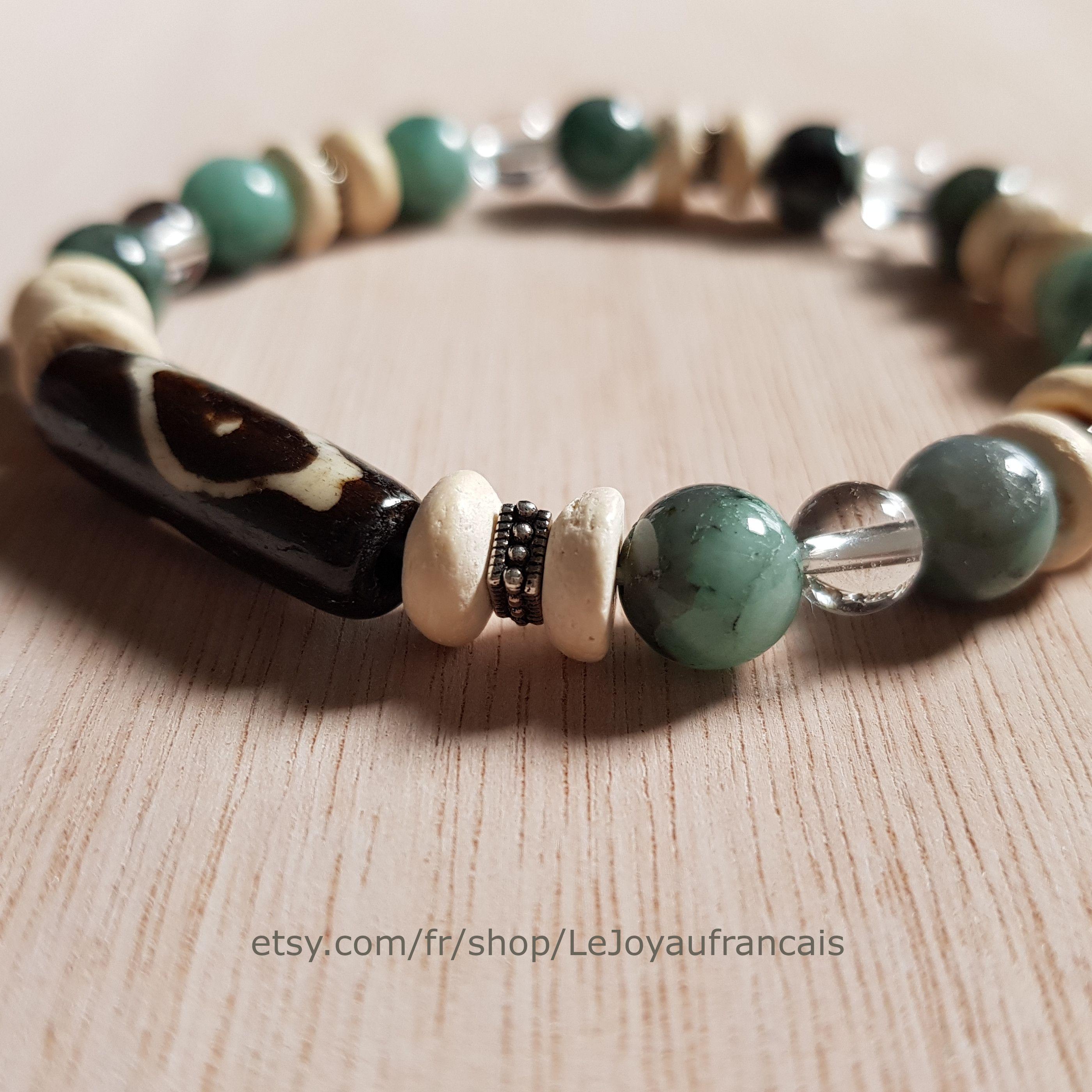 bracelet homme cristal de roche
