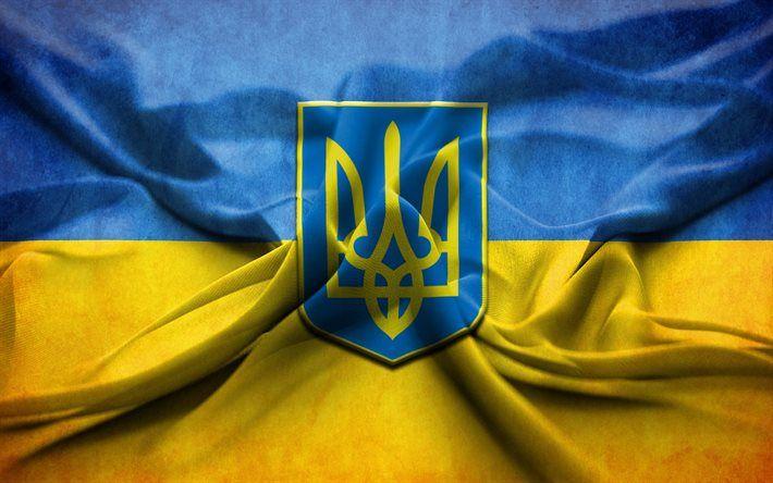 Download Wallpapers Ukrainian Flag Emblem Of Ukraine Flag Of