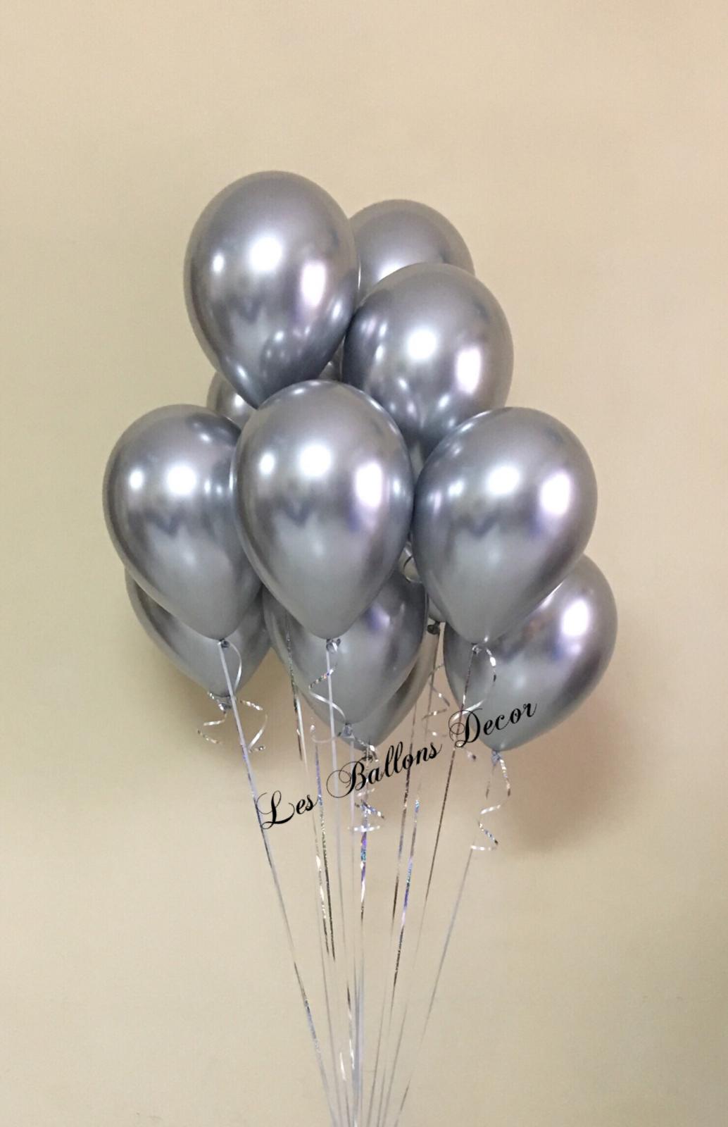 Chrome Silver Balloon Bouquet Silver Balloon Balloon Bouquet 16 Balloons