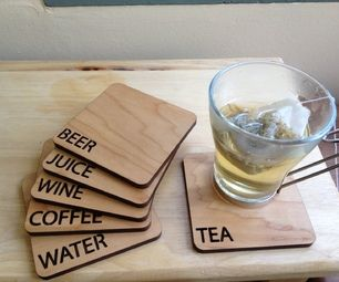 Laser Cut Beverage Coasters #beverages