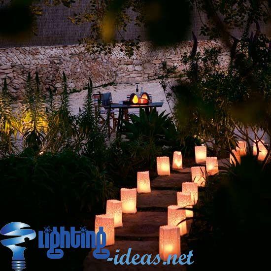 Innovative garden railway with glowing spheres outdoor lighting garden lighting ideas aloadofball Choice Image