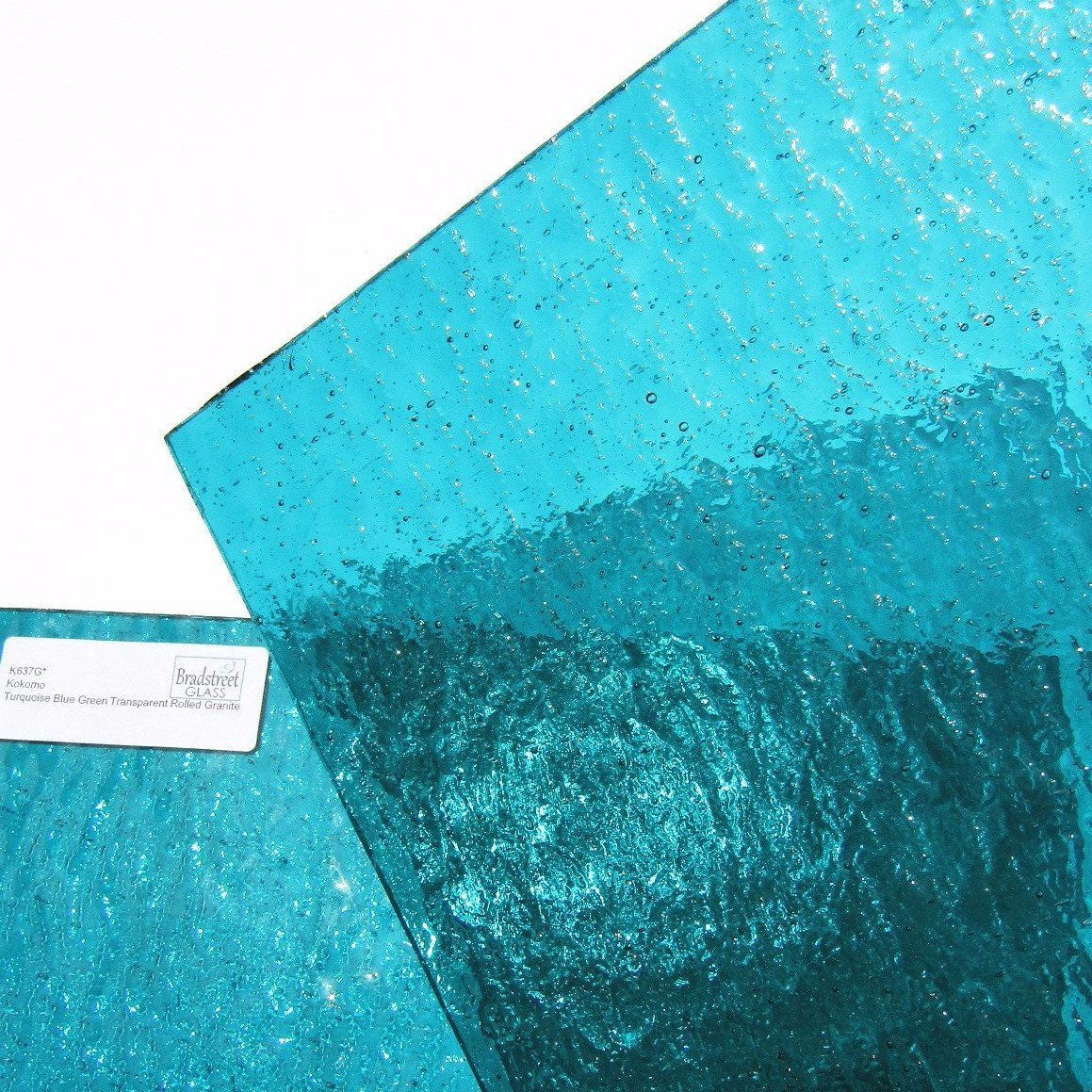 Kokomo 637g Stained Glass Sheet Cathedral Rolled Granite Textured Turquoise Blue Green Transparent 8 X 8 Or 10 X 10 Stained Glas Stained Glass Kokomo Glass
