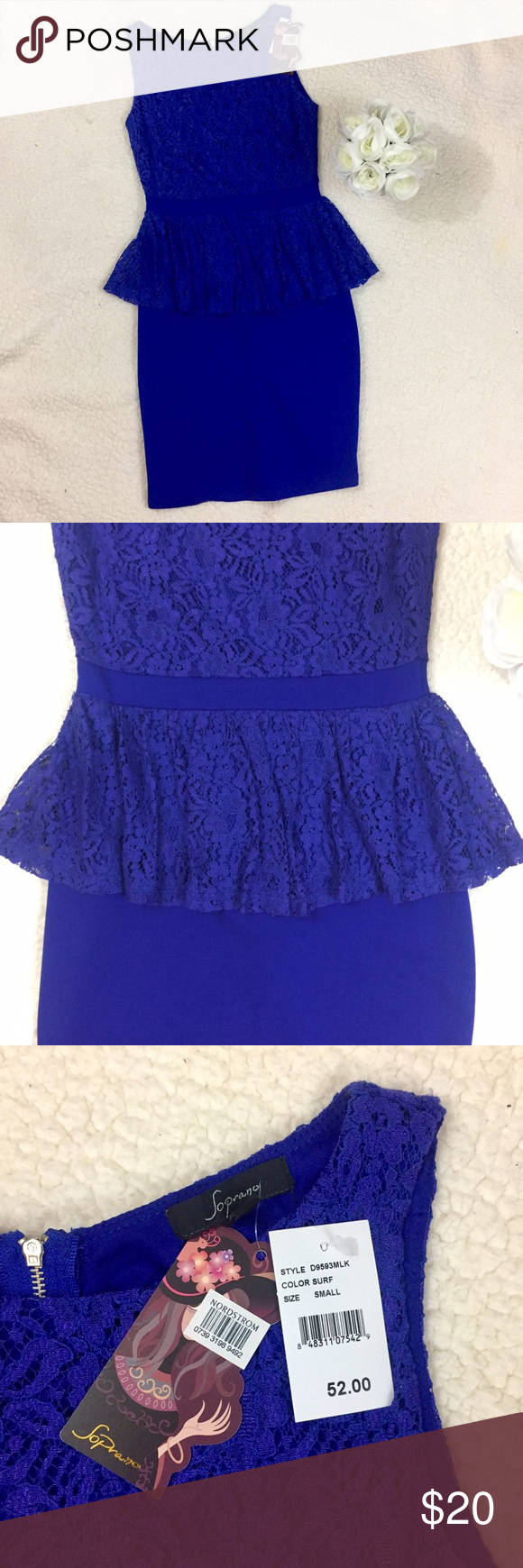 NWT Lace Peplum Nordstrom Dress Beautiful dress! Perfect for work ...