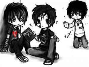 Imagenes De Emos De Dibujos Y Bonitos Emo Art Emo Wallpaper Cute Drawings