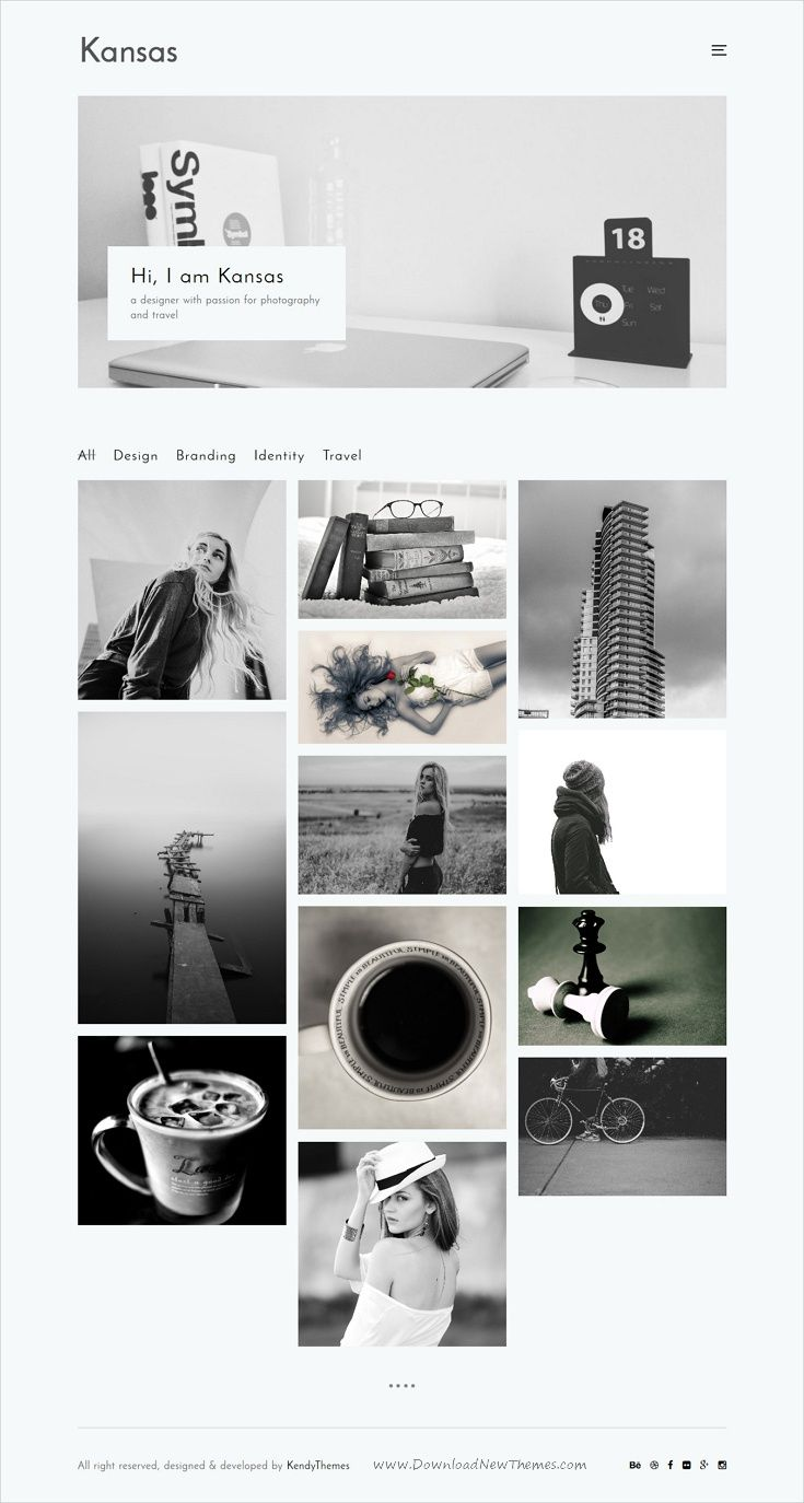 Kansas is clean and modern design responsive #WordPress theme for ...