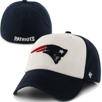 2da44390da0 New England Patriots  47 Brand Classic Freshman Franchise Fitted Hat – Navy  Blue White