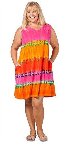 La Cera Casual Dress Plus Size Cotton Knit Sleeveless Beach Dress In