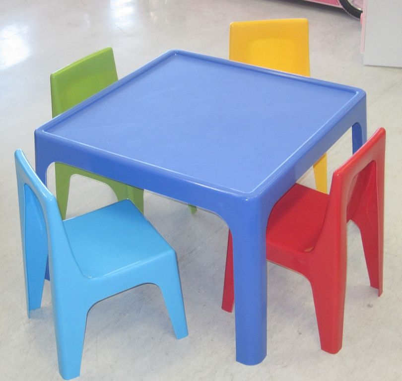Illustration Of Modern Kids Table And Chairs Design Options