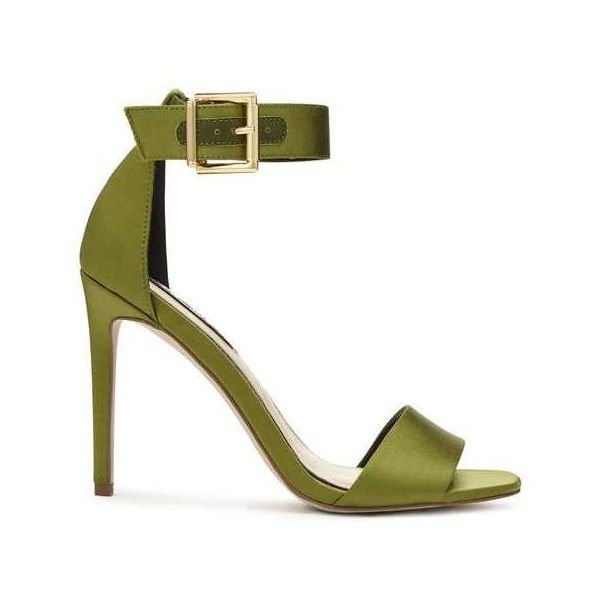 ddf6768c5d0 CORA Satin Barely There (52 CAD) ❤ liked on Polyvore featuring shoes