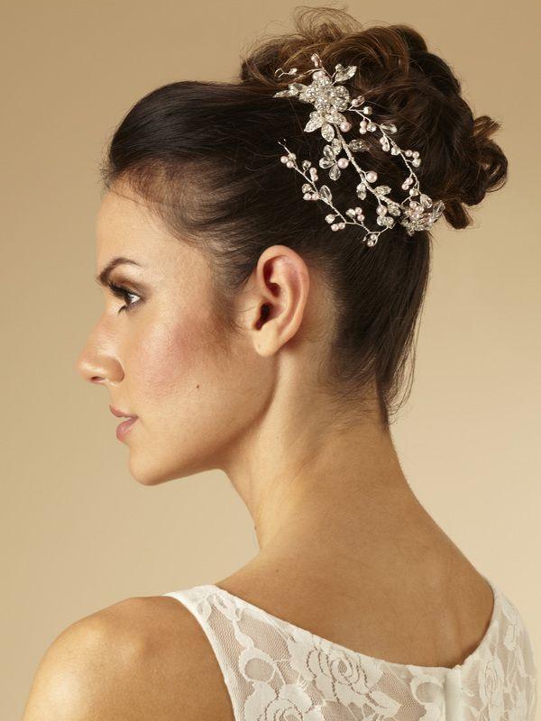 AR329 - Rambling Flower Hair Vine by Arianna Tiaras - Arianna Tiaras