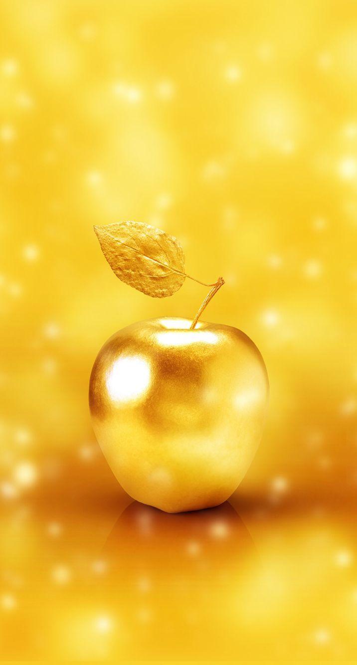 効果絶大 宝くじが当たるかも 超強力金運アップの待ち受け画像 黄金の林檎 お金 画像 ゴールドの壁紙