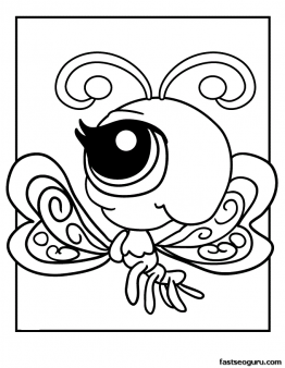 Printable Littlest Pet Shop Coloring Page Butterfly - Printable ...