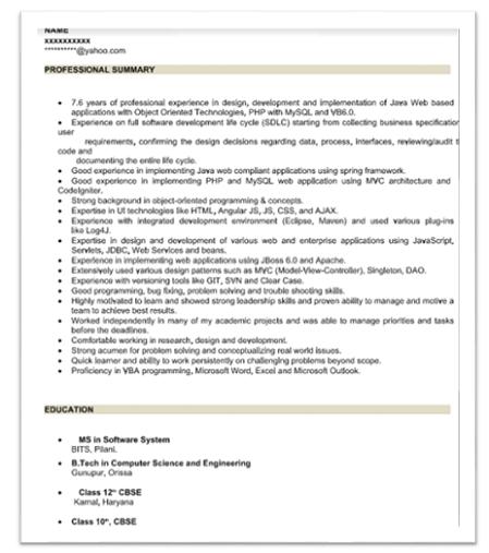 angularjs resume sample download - Angular Js Resume