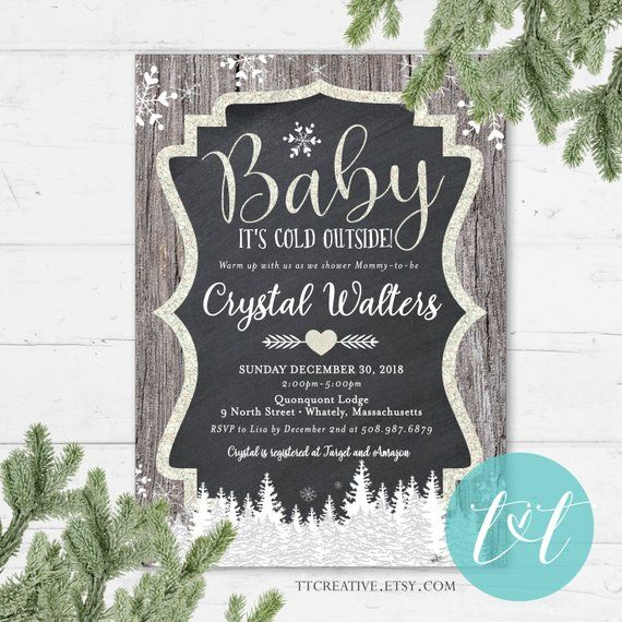 fc9133e553 BABY It s COLD OUTSIDE Baby Shower Invitation