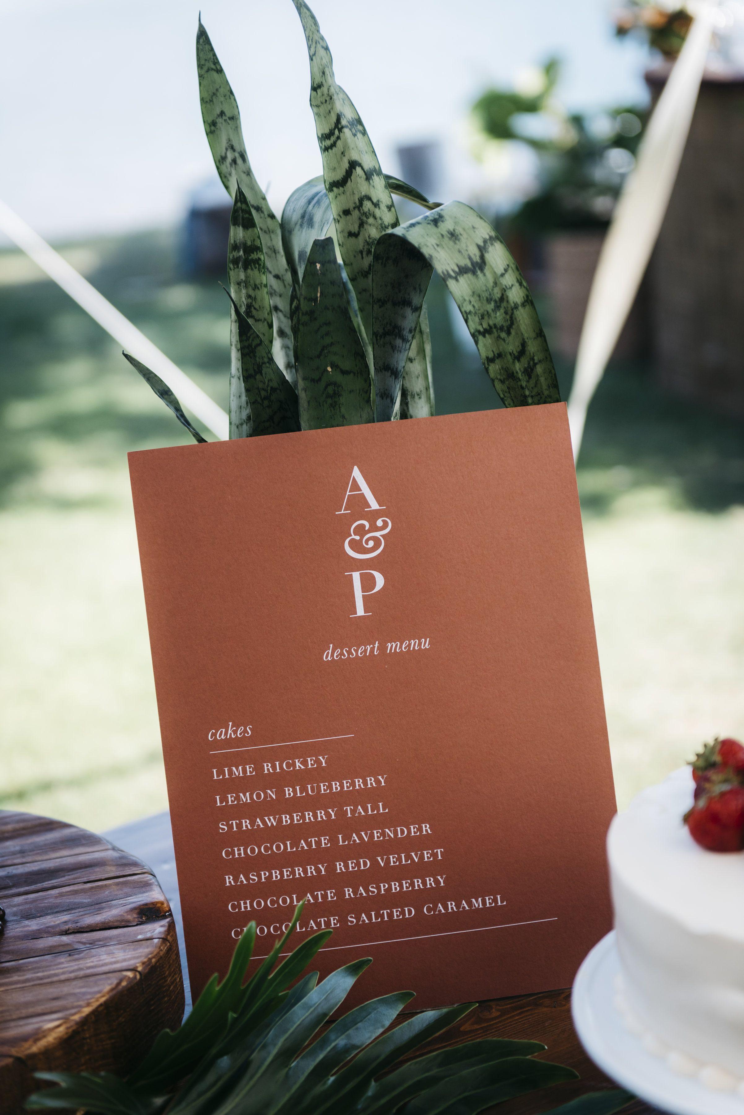 Dessert menu sign desserts menu wedding desserts