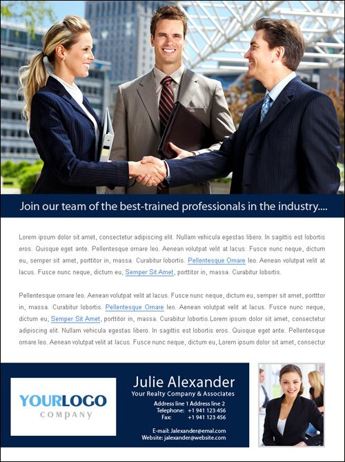 staffing recruitment agency flyer ad microsoft publisher