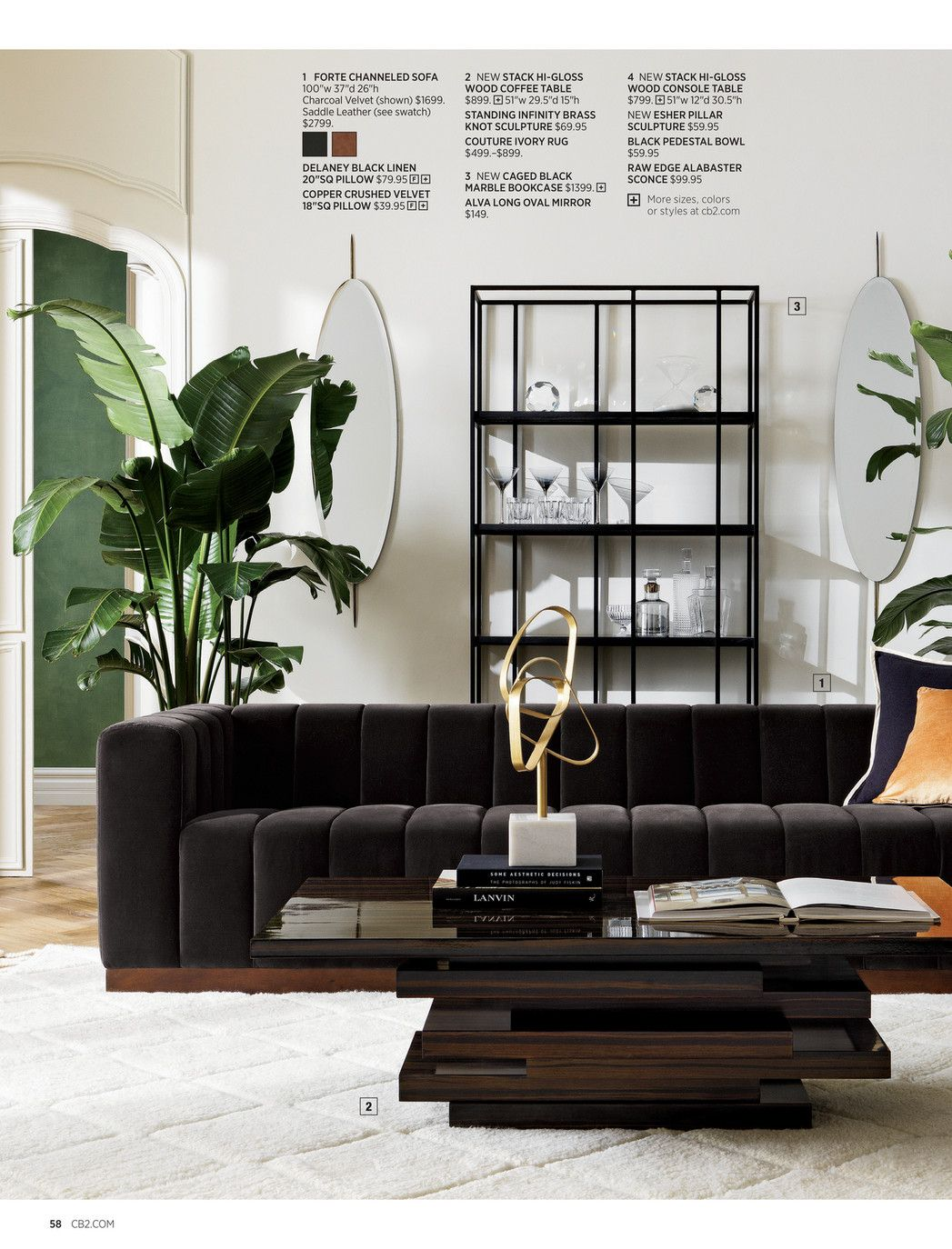 CB13 - July Catalog 13018 - Page 13-13  Black and white living room