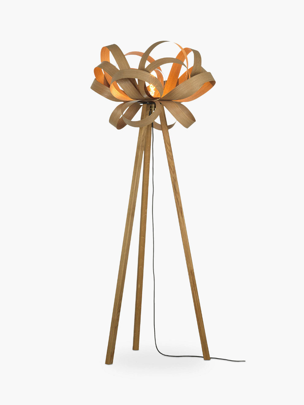 Tom Raffield Skipper Floor Lamp Oak Brass In 2020 Tom Raffield Floor Lamp Tom Raffield Lighting