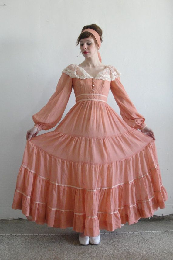 r e s e r v e d ... Peach Sax ... Vintage Gunne Sax Dress | Ropa ...