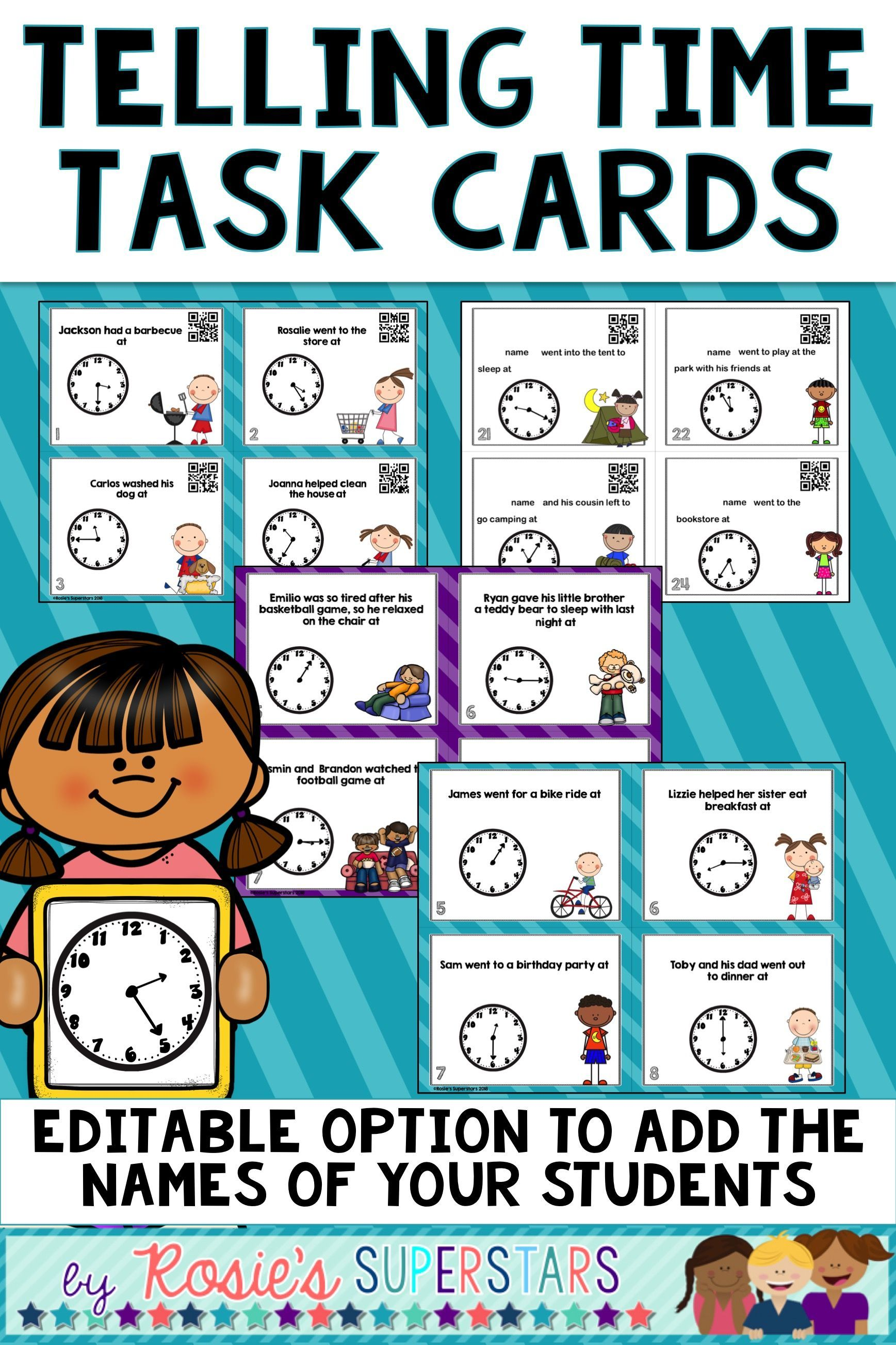Time Task Cards To 5 Minute Interval