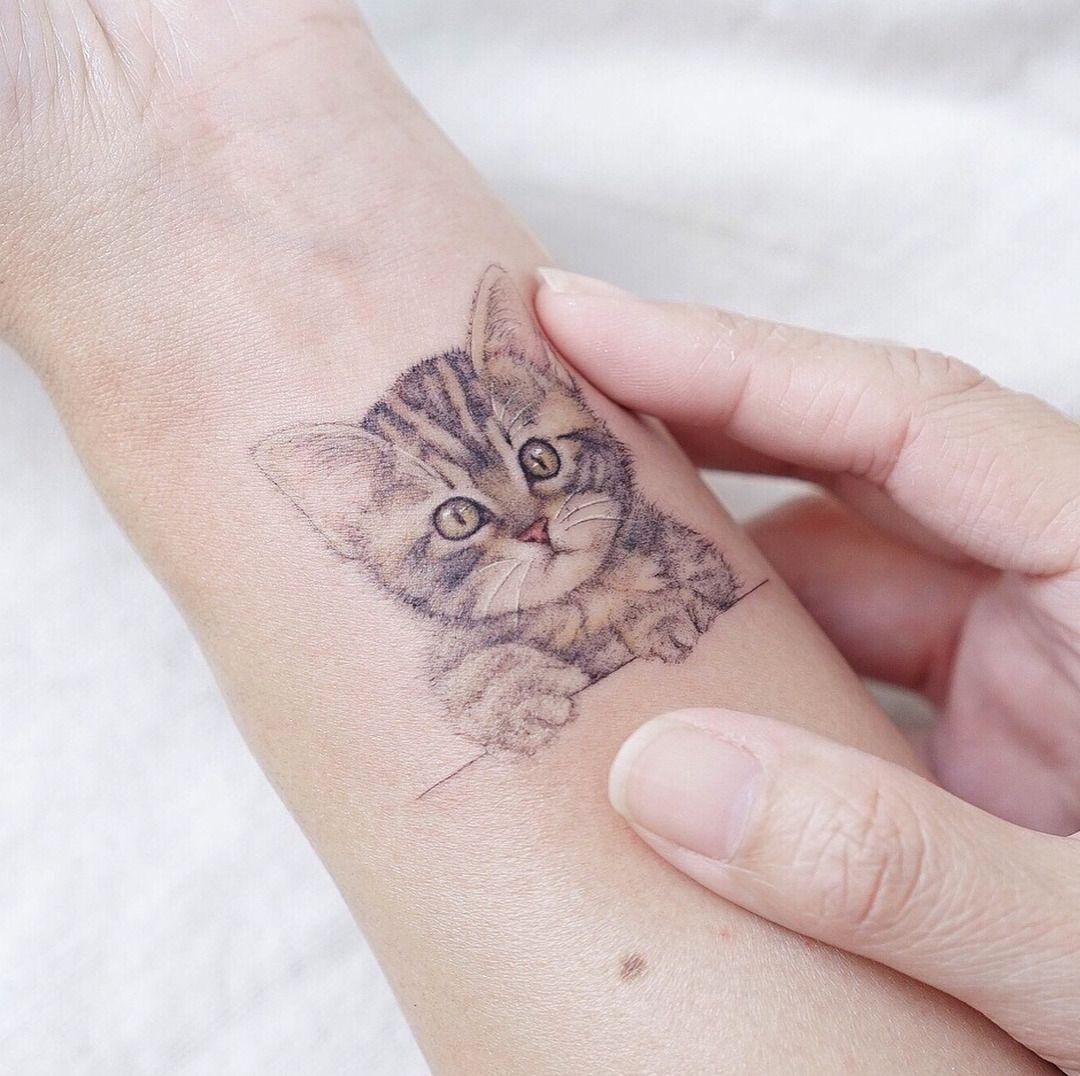 Cat tattoo artist hktattoomini mini lau hello tattoo awesome