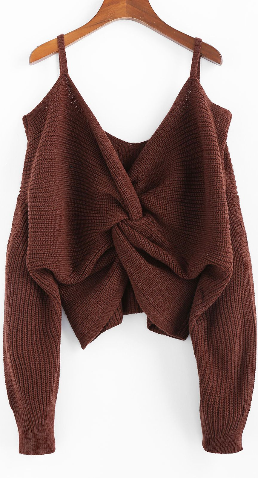 Photo of Twisted Cold Shoulder Jumper Sweater