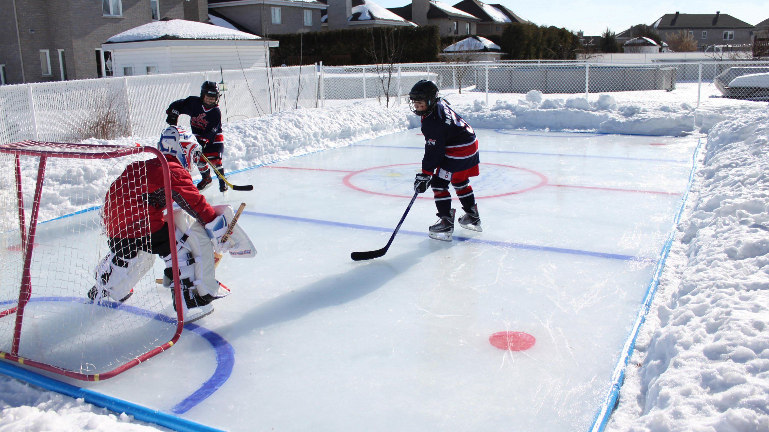Ice Rink Kit If Ever End Up Somewhere Ridiculously Cold Cough Cough North Dakota Cough Ice Hockey Rink Backyard Hockey Rink Hockey Rink Best backyard skating rink kit