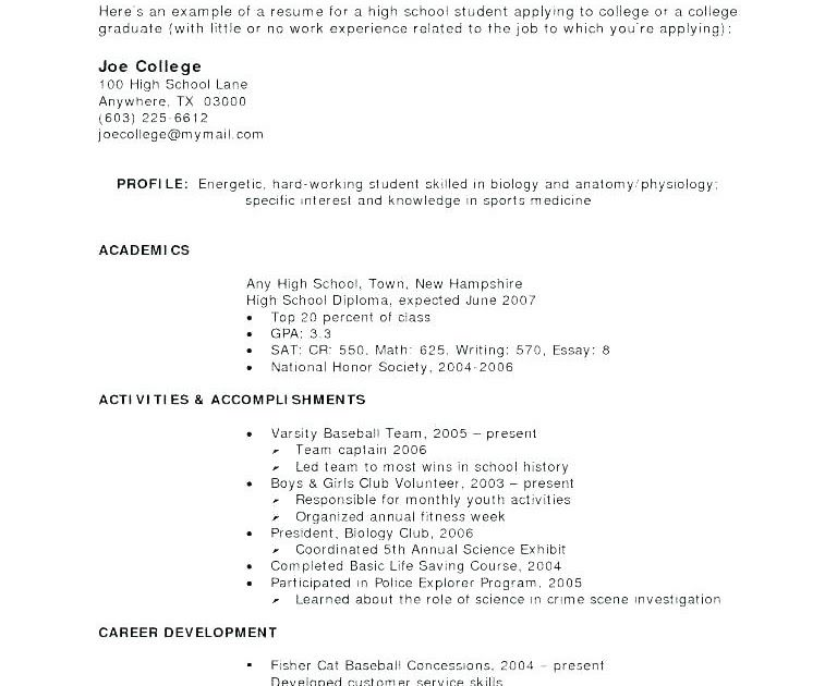 Graduate Resume Sample School Of High Philippines