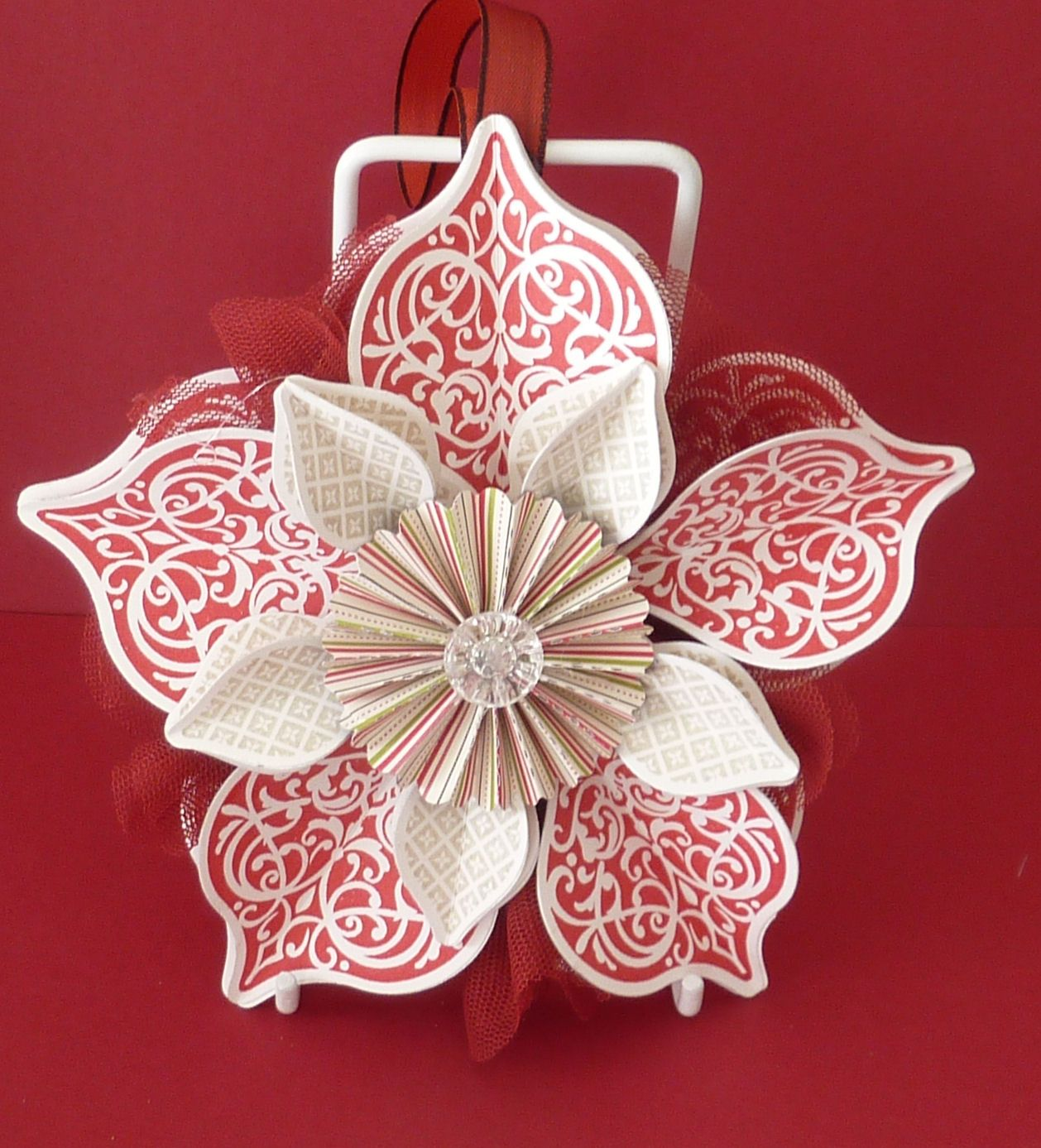 Lindy Lou S Meeting Place Paper Christmas Ornaments Homemade Christmas Cards Christmas Ornaments